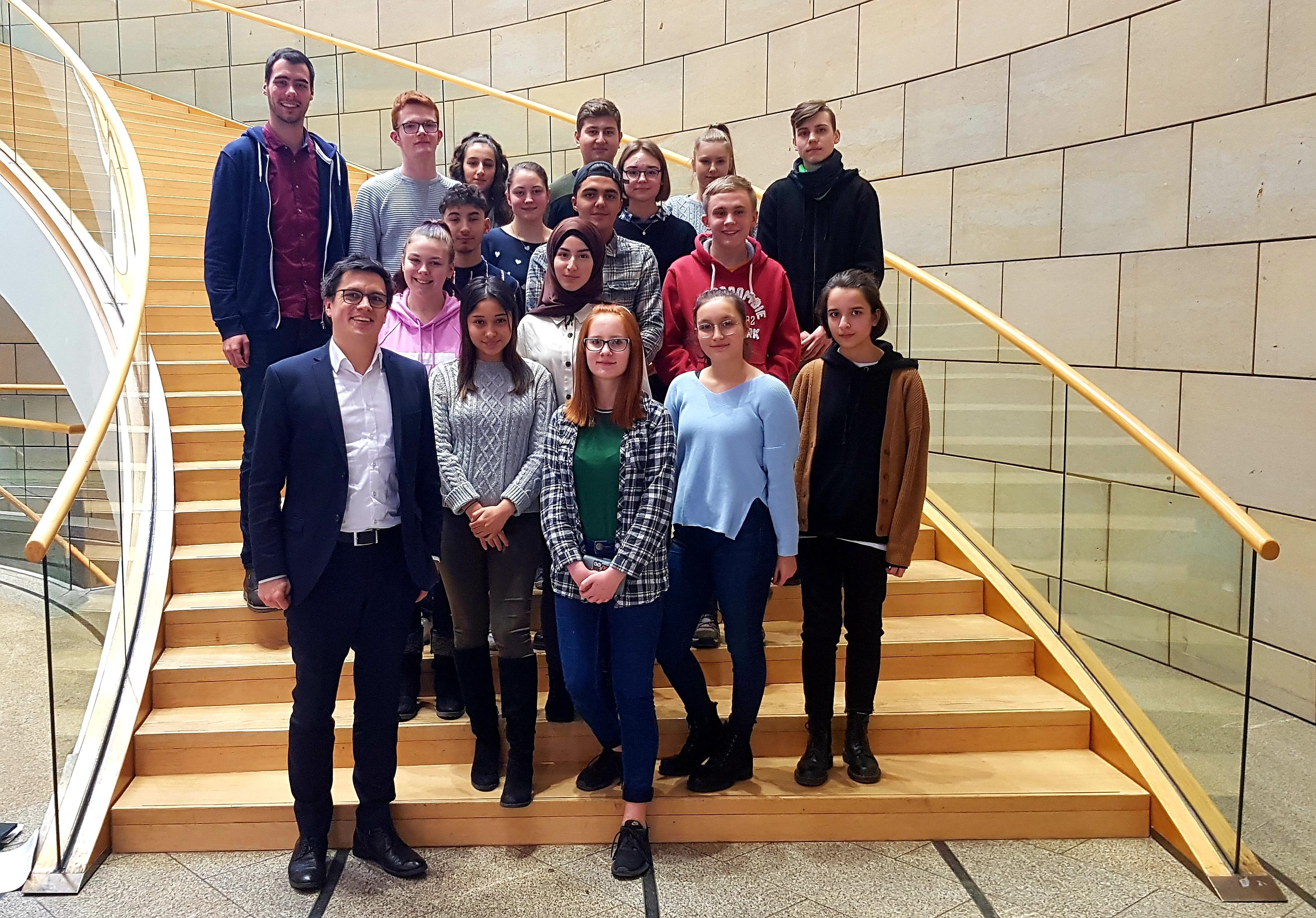Landtagsbesuch Sozialwissenschaften GK in der EF