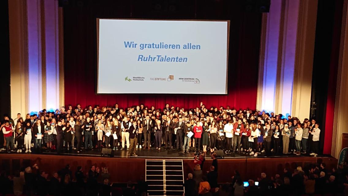 Schülerinnen und Schüler des Gymnasium Wanne sind RuhrTalente